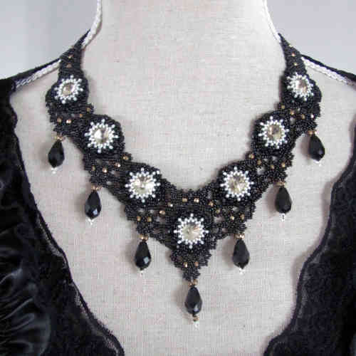 Necklace 'Black Lace'