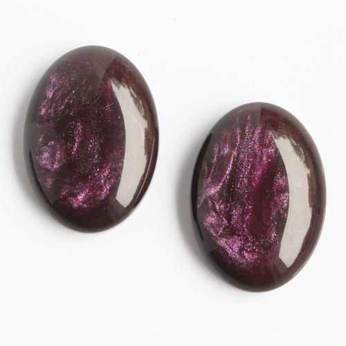 Polaris Cabochon 18x25mm Pearl Shine - Amethyst