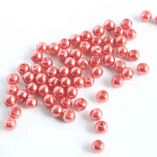 Glasspearl 4mm - Soft Red