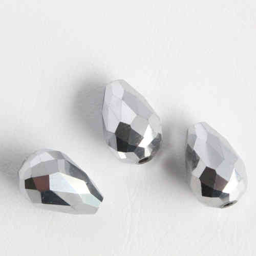 Firepolished dropbead 15x10mm