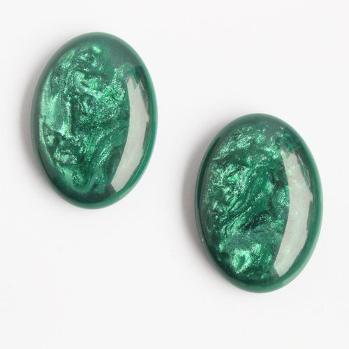 Polaris Cabochon 18x25mm Pearl Shine - Emerald