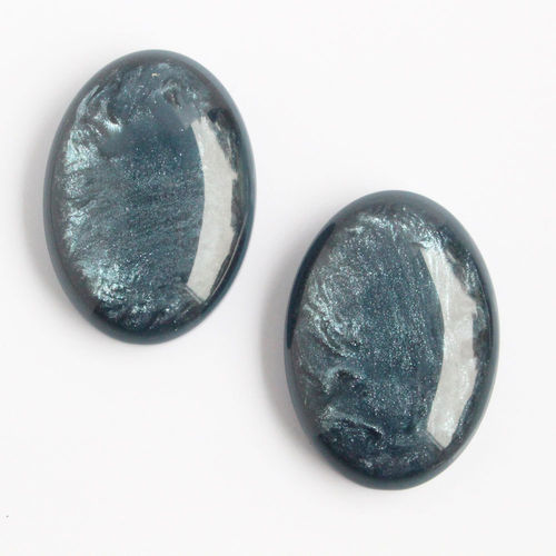 Polaris Cabochon 18x25mm Pearl Shine - Bluegrey