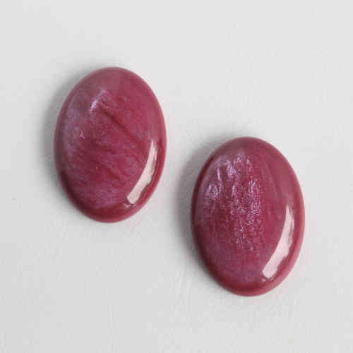 Polaris Cabochon 18x25mm Pearl Shine - Fuchsia