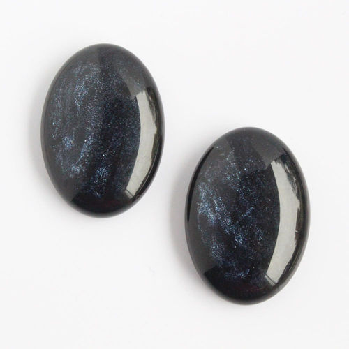 Polaris Cabochon 18x25mm Pearl Shine - Cobalt
