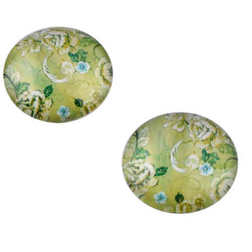 Cabochon round 18mm - Green