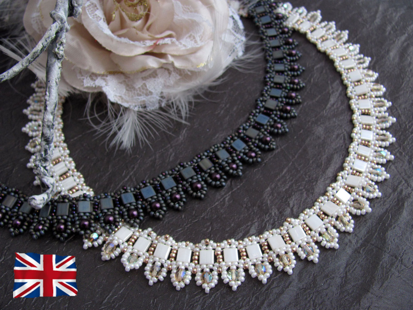 Tutorial for necklace 'To The Point' - English