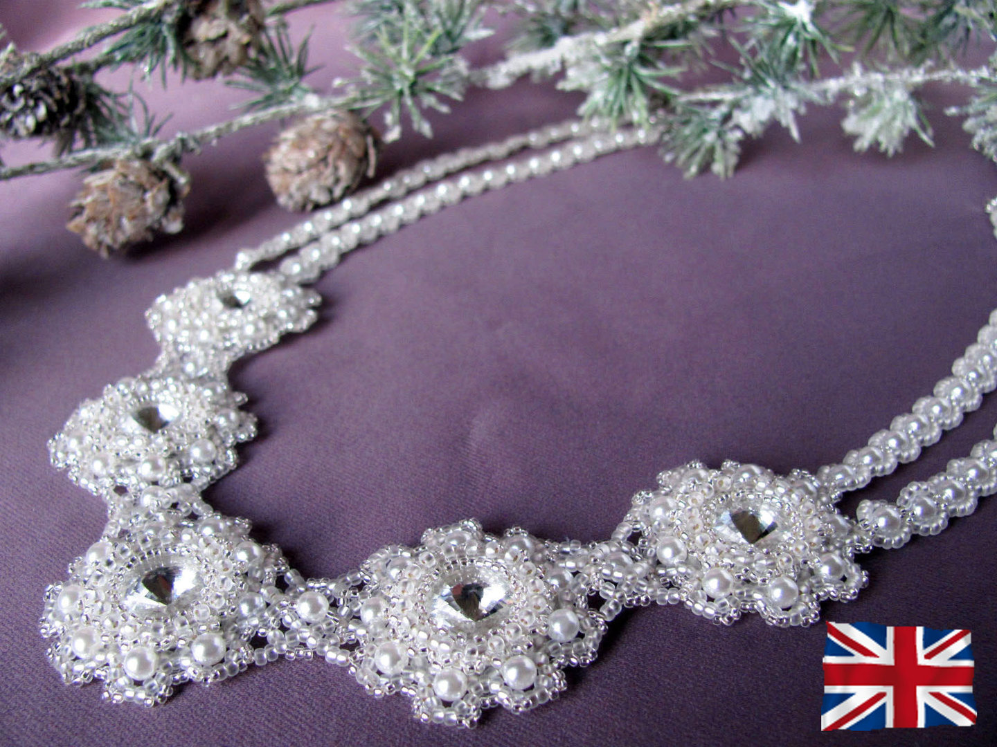 Tutorial for necklace 'Frozen Snow' - English