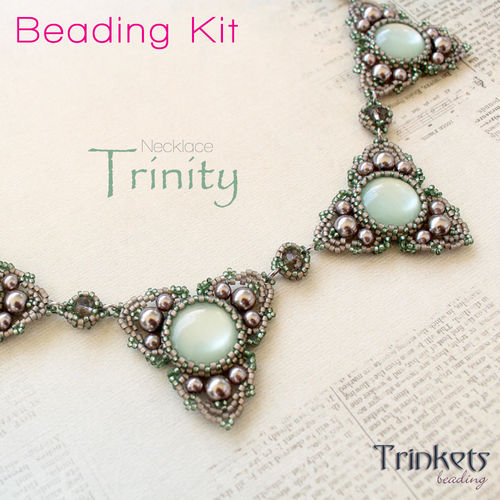 Beading kit for necklace 'Trinity'