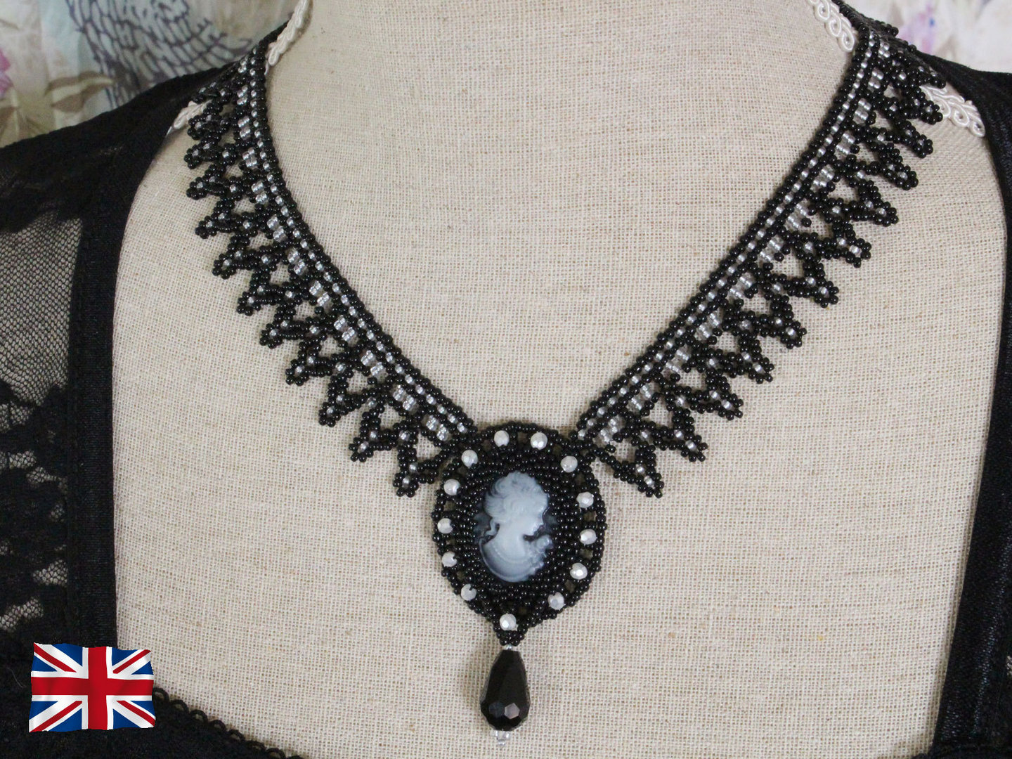 Tutorial for necklace 'Adelia' - English