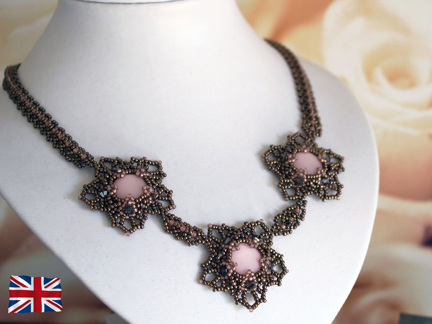 Tutorial for necklace 'Flora' - English