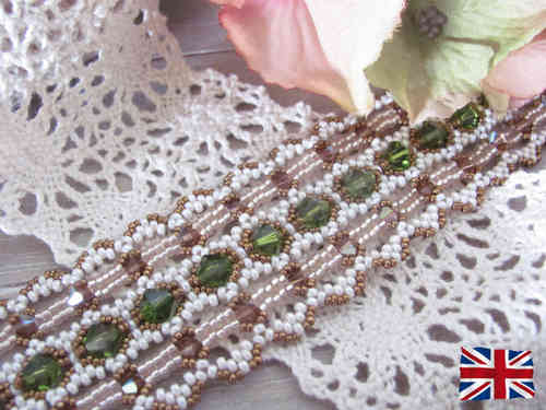 Tutorial for bracelet 'Lace Ribbon' - English