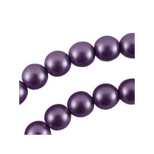 Glasspearl 6mm - Deep Purple - Matte