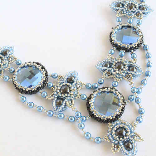Beading kit for necklace 'Anastasia' - blue
