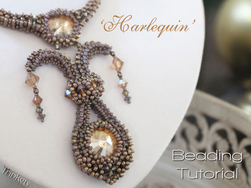 Beading pattern for necklace 'Harlequin' - English