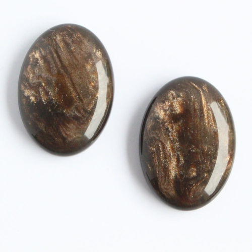Polaris Cabochon 18x25mm Pearl Shine - Mocca