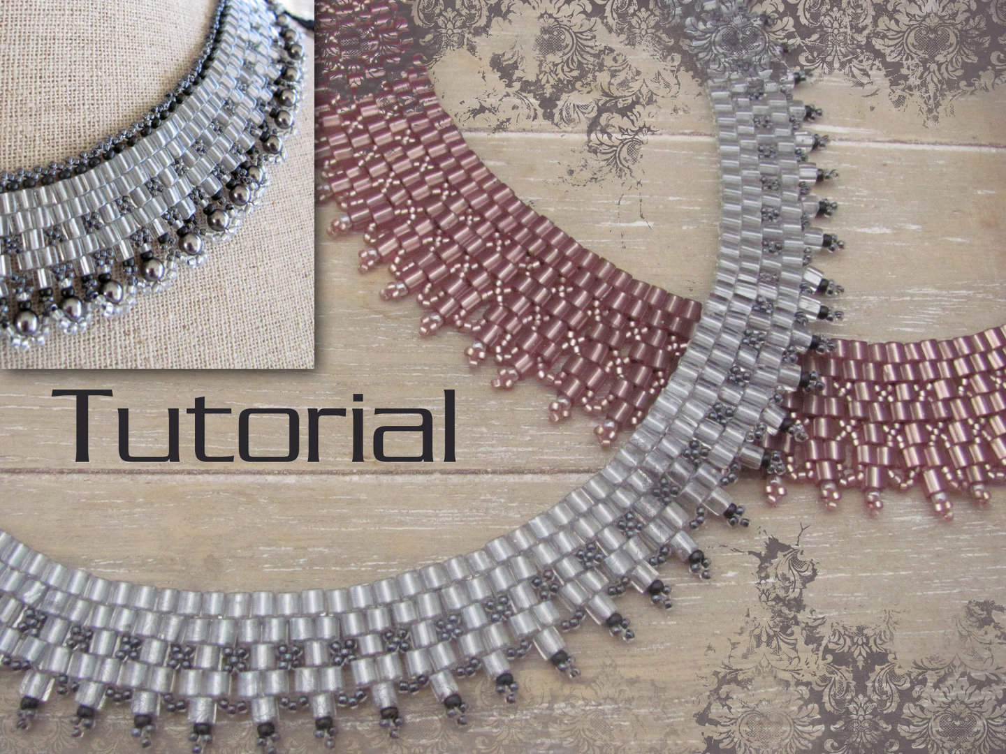 Tutorial for necklace 'Cube Collar' - English