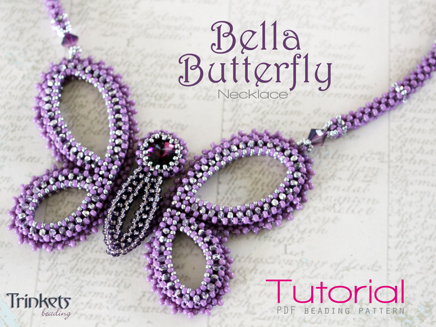 Beading pattern for necklace 'Bella Butterfly' - English
