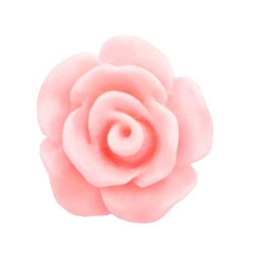 Rose bead 10mm - Matt Light Pink x5