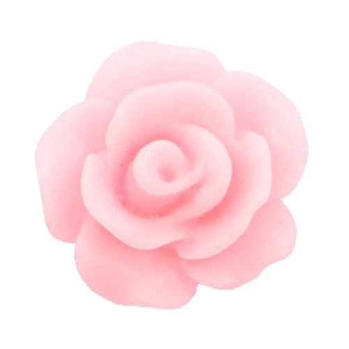 Rose bead 10mm - Matt Pink Rose x5