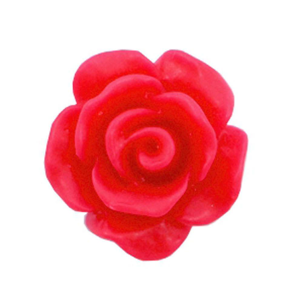 Rose Bead 10mm Matt Raspberry Wine Red X5 Trinkets Beading