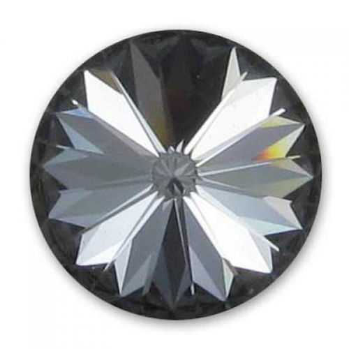 Swarovski Rivoli 14mm - Crystal Silver Night