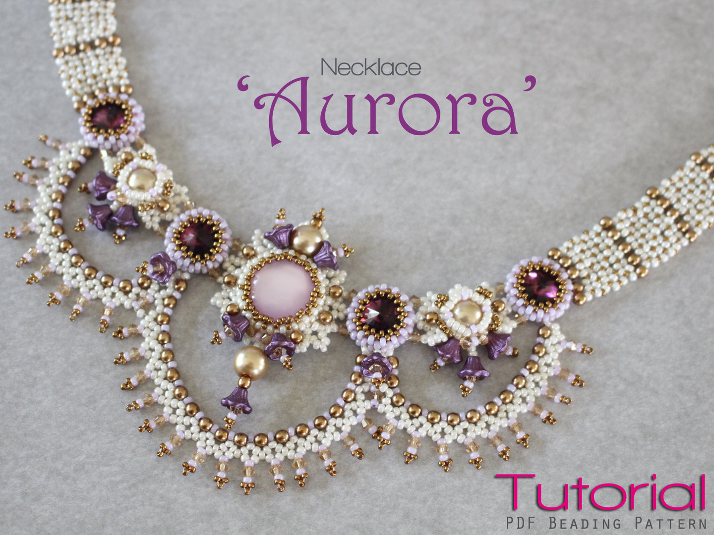 Beading pattern for necklace 'Aurora'