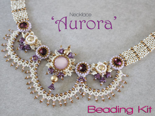 Beading kit for necklace 'Aurora' - Violet