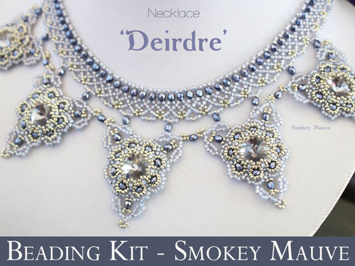 Beading kit for necklace 'Deirdre' - Smokey Mauve