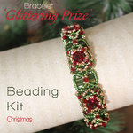 Beading kit for bracelet 'Glittering Prize' - Christmas