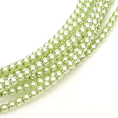 Glass Pearl 3mm - Creme Mint x150