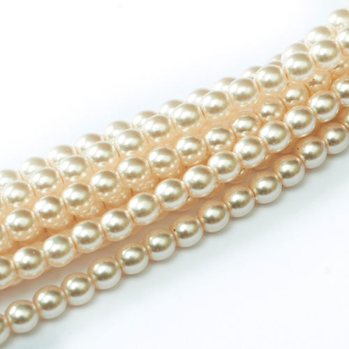 Glass Pearl 3mm - Pale Peach x150