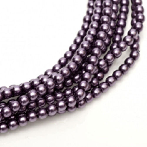 Glass Pearl 3mm - Eggplant x150