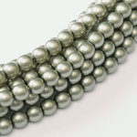 Glass Pearl 3mm - Powder Green x150