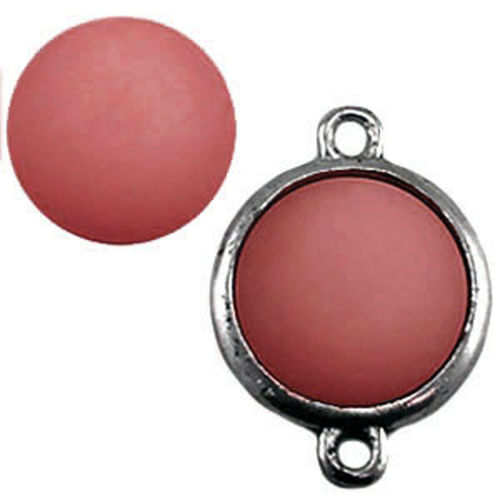 Polaris cabochon Matt 15mm - Antique Pink x1