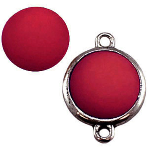 Polaris cabochon Matt 15mm - Siam Red x1