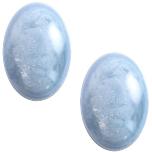 Cabochon Polaris Jais 13x18mm - Cloud Blue x1