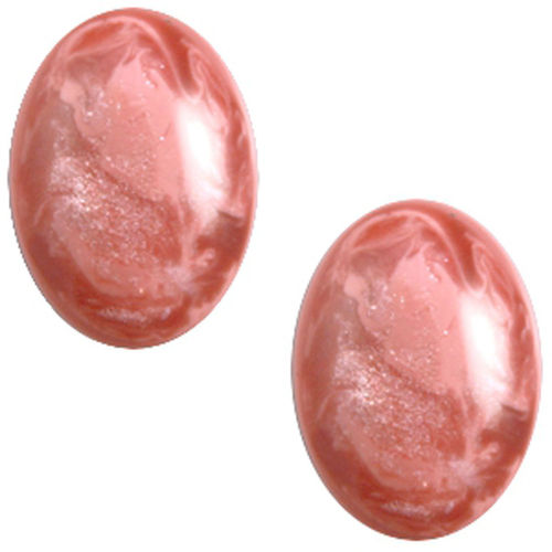 Cabochon Polaris Jais 13x18mm - Antique Pink x1