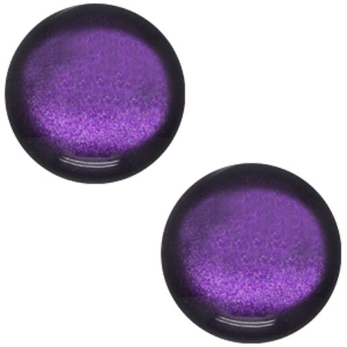 Polaris cabochon Glanzend Soft Tone 20mm - Diep Paars x1