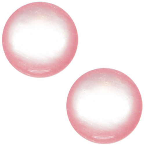 Polaris cabochon Glanzend Soft Tone 20mm - Roze x1