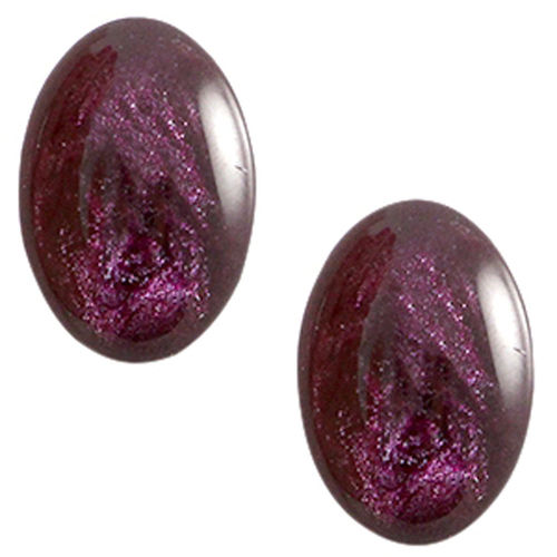 Cabochon Polaris Jais 13x18mm - Crown Jewel Purple x1