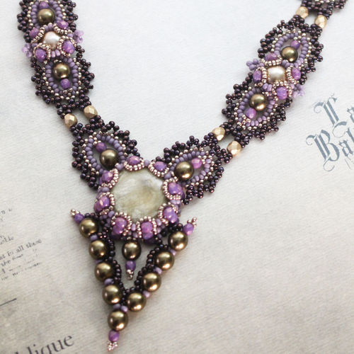 Beading kit for necklace 'La Ballerina' - Mauve