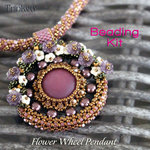 Beading kit - necklace 'Flower Wheel' - Bronze