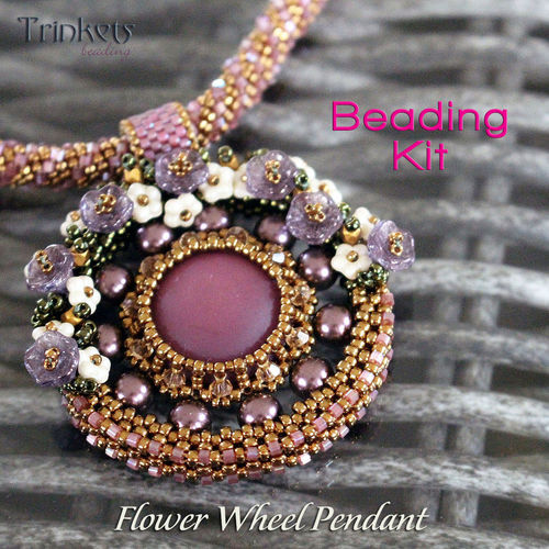 Rijgpakket - ketting 'Flower Wheel' - Brons