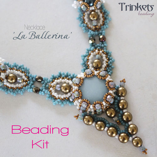 Beading kit for necklace 'La Ballerina' - Eucalyptus