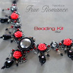 Beading kit for necklace 'True Romance' - Black