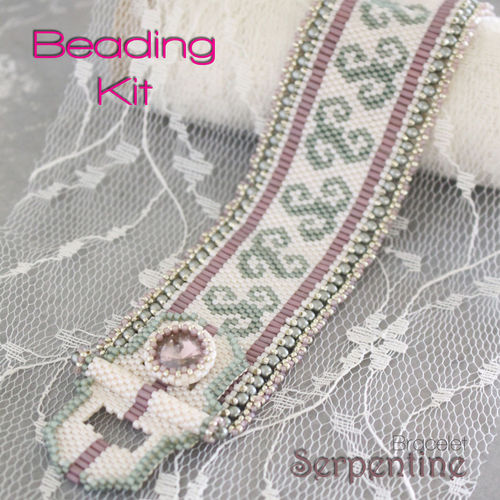 Beading Kit for bracelet 'Serpentine' - Spring