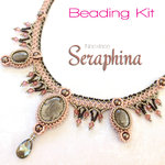 Beading kit - necklace 'Seraphina' - Pink