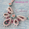 Beading kit for necklace 'Callista' - Pink