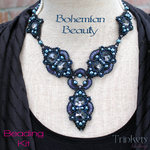 Beading Kit - Necklace 'Bohemian Beauty' - Night Sky