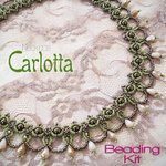 Beading kit - necklace 'Carlotta' - Brown